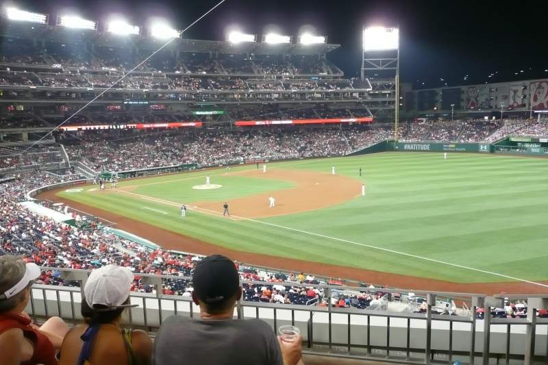 Seating view for Nationals Park Section 227 Row C Seat 10