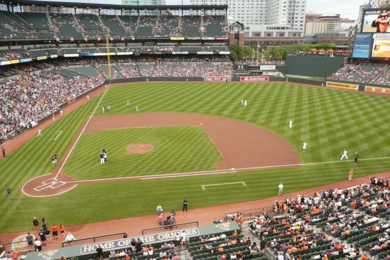 Seating view for Oriole Park at Camden Yards Section 324 Row 1 Seat 16