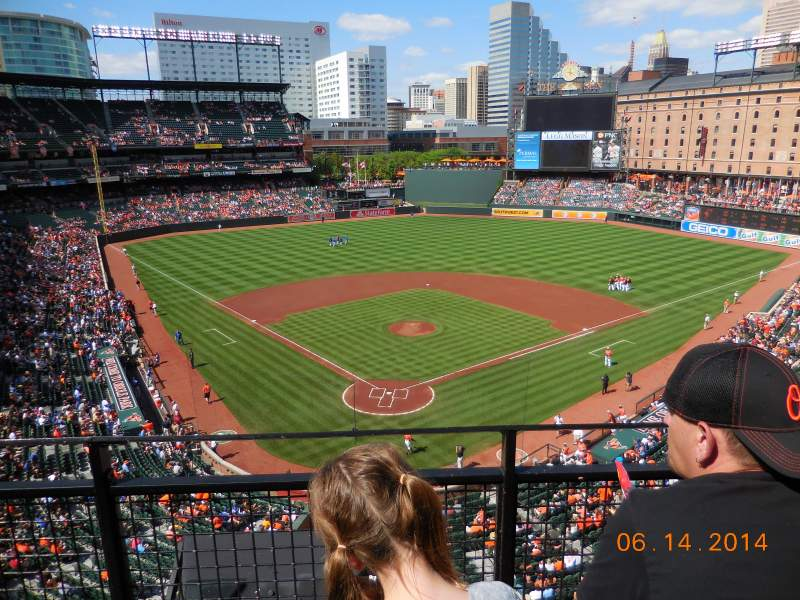 Seating view for Oriole Park at Camden Yards Section 334 Row 2 Seat 8