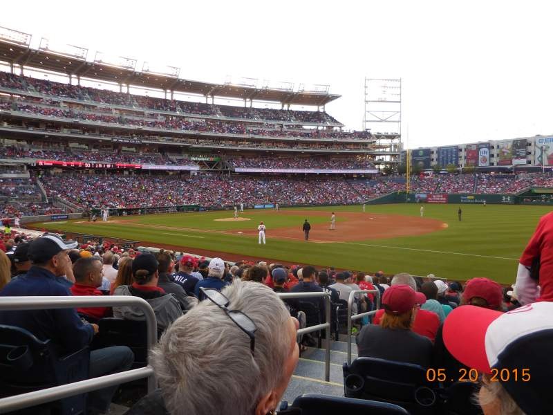 Seating view for Nationals Park Section 133 Row X Seat 18