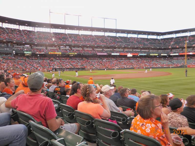 Seating view for Oriole Park at Camden Yards Section 12 Row 10 Seat 3