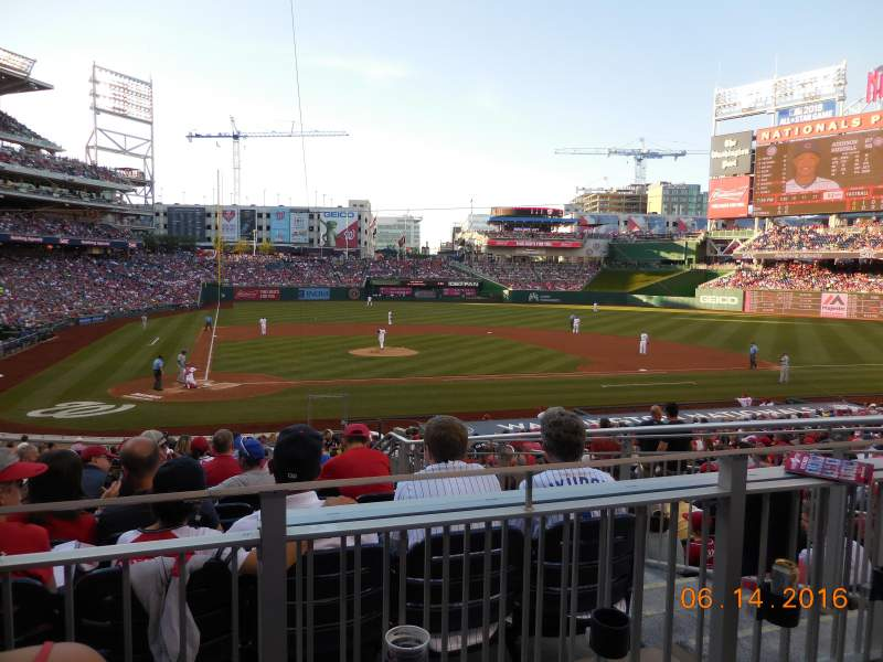 Seating view for Nationals Park Section 126 Row L Seat 5