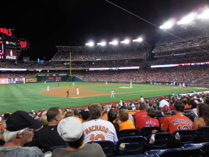 Seating view for Nationals Park Section 113 Row Y Seat 7