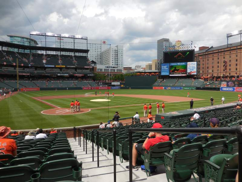 Oriole Park At Camden Yards Section 32 Row 19 Seat 1