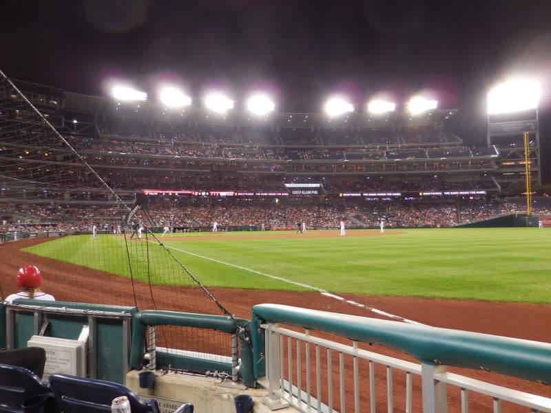 Seating view for Nationals Park Section 136 Row C Seat 2