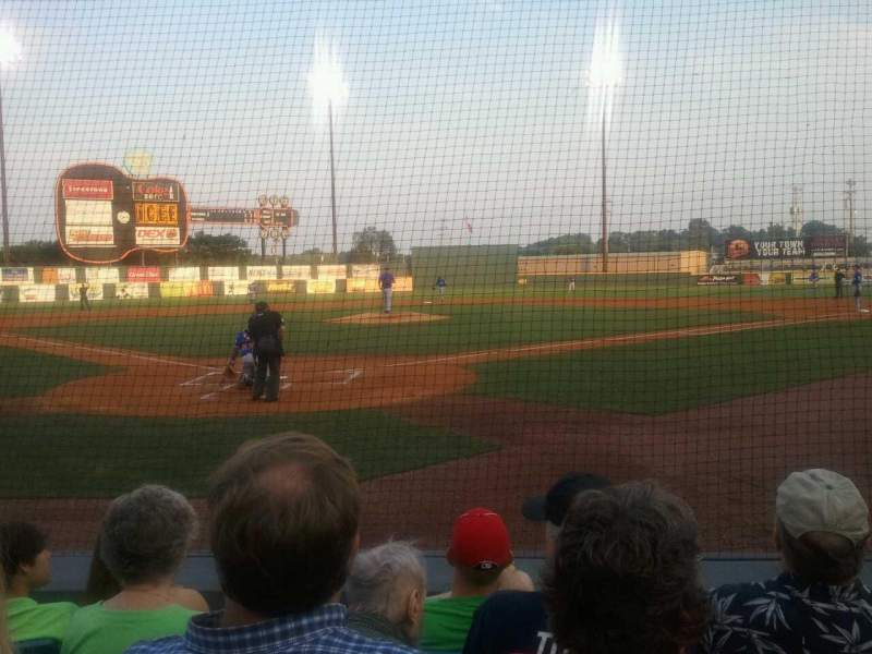 Seating view for Herschel Greer Stadium Section M Row 6 Seat 6