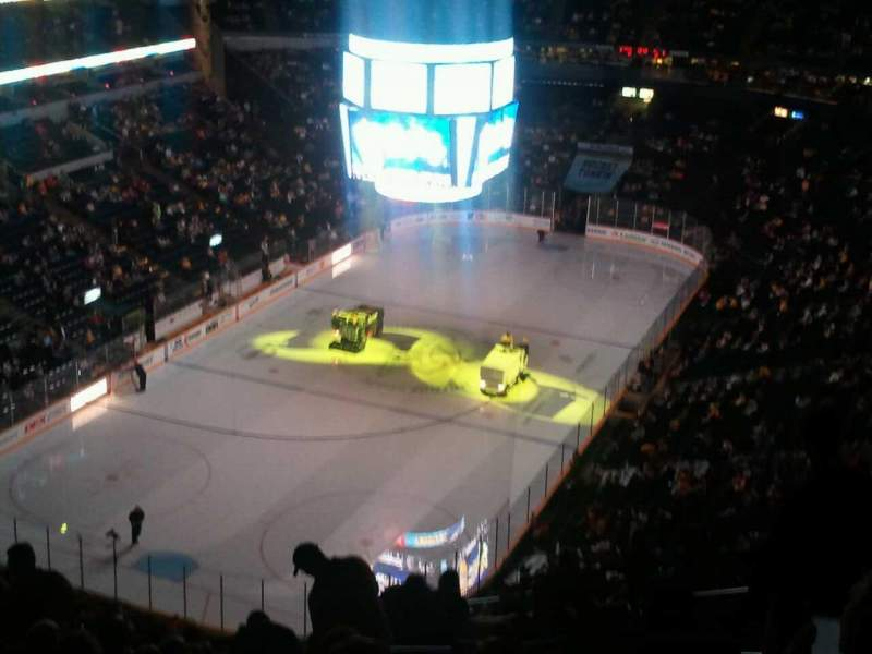 Seating view for Bridgestone Arena Section 303 Row R Seat 5