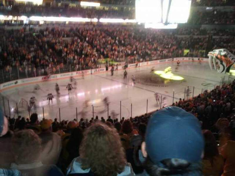 Seating view for Bridgestone Arena Section 113 Row N Seat 6