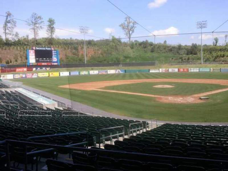 Seating view for Smokies Park Section behind gift shop