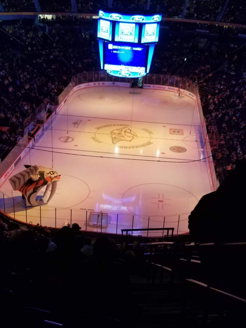 Seating view for Bridgestone Arena Section 301 Row N Seat 1