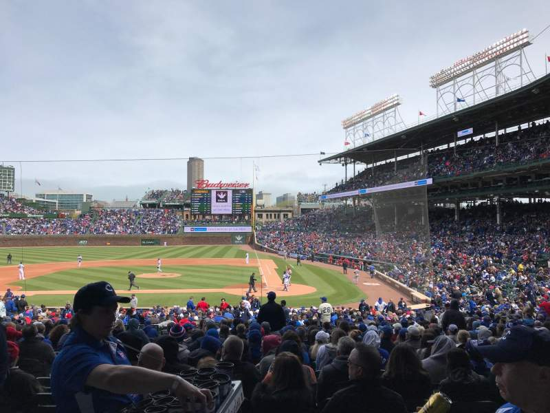 Seating view for Wrigley Field Section 213 Row 2 Seat 24