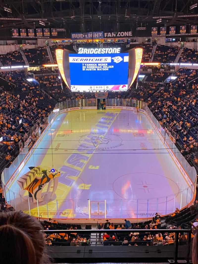 Seating view for Bridgestone Arena Section 301 Row C Seat 12