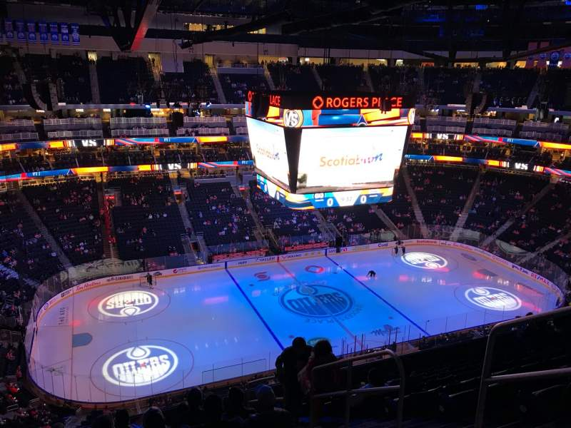 Seating view for Rogers Place Section 222 Row 10 Seat 4