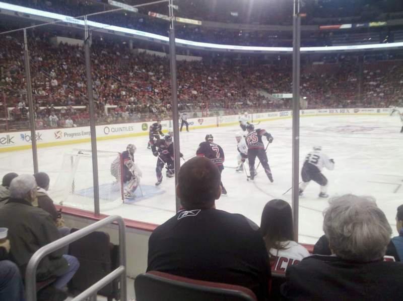 Seating view for PNC Arena Section 110 Row E Seat 3