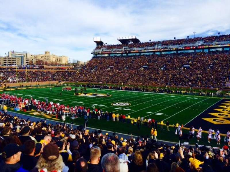 Seating view for Faurot Field Section C Row 31 Seat 1