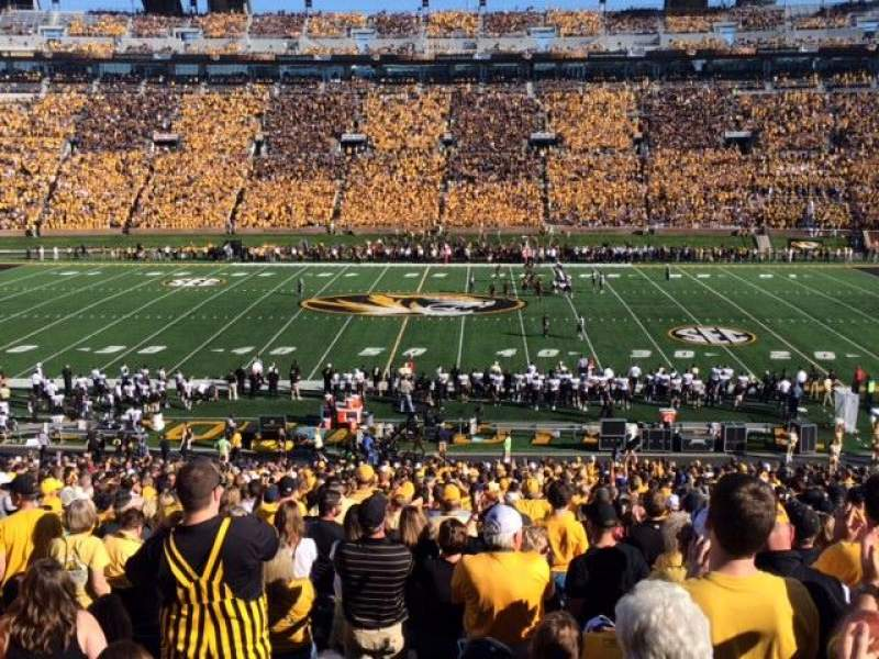Seating view for Faurot Field Section J Row 47 Seat 3