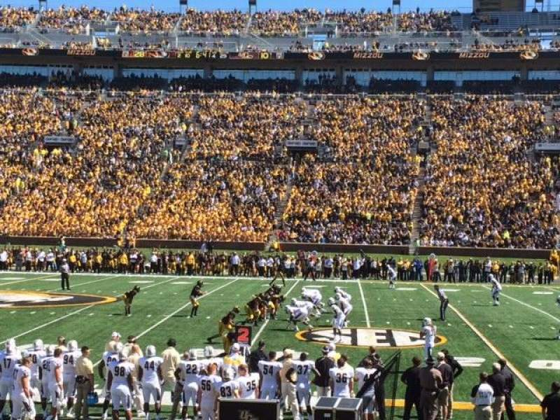 Seating view for Faurot Field Section H Row 12 Seat 14