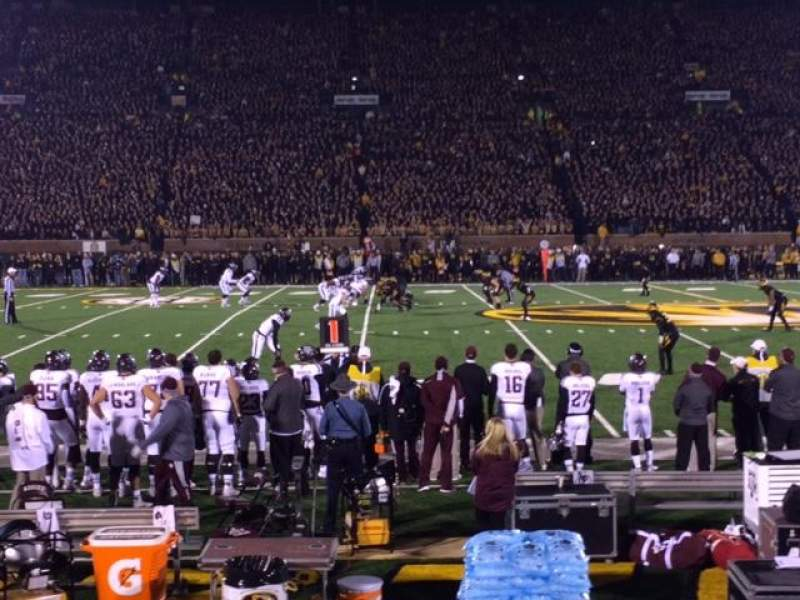 Seating view for Faurot Field Section L Row 3 Seat 8