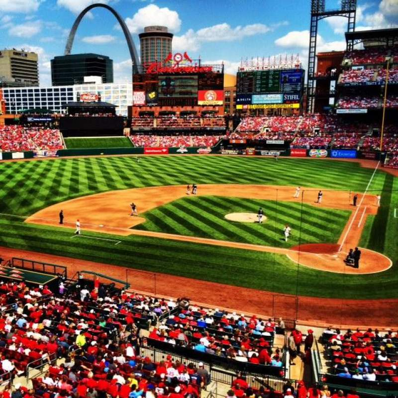Seating view for Busch Stadium Section 52 Row 1 Seat 1