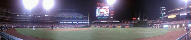 Seating view for Citizens Bank Park Section 112 Row 1 Seat 8