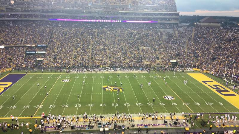 Seating view for Tiger Stadium Section 536 Row 1 Seat 8
