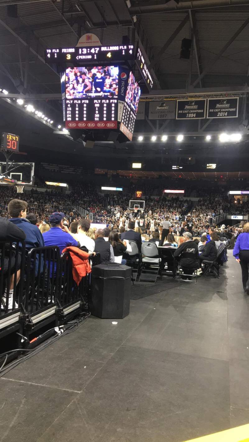 Dunkin' Donuts Center, section: 112, row: DD, seat: 1