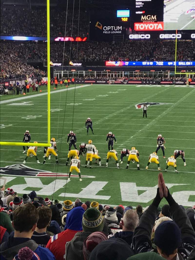 Seating view for Gillette Stadium Section 142
