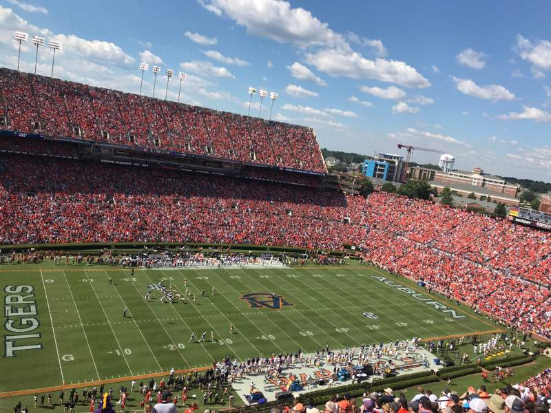 Seating view for Jordan-Hare Stadium Section 102