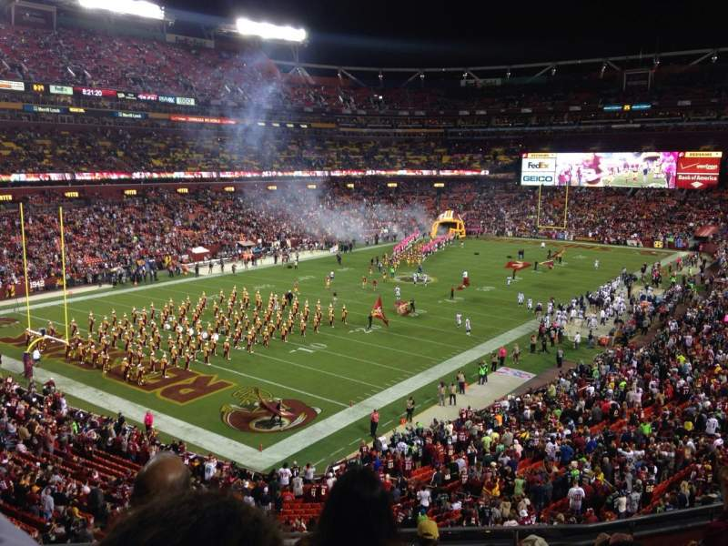 Seating view for FedEx Field Section 328 Row 8 Seat 13