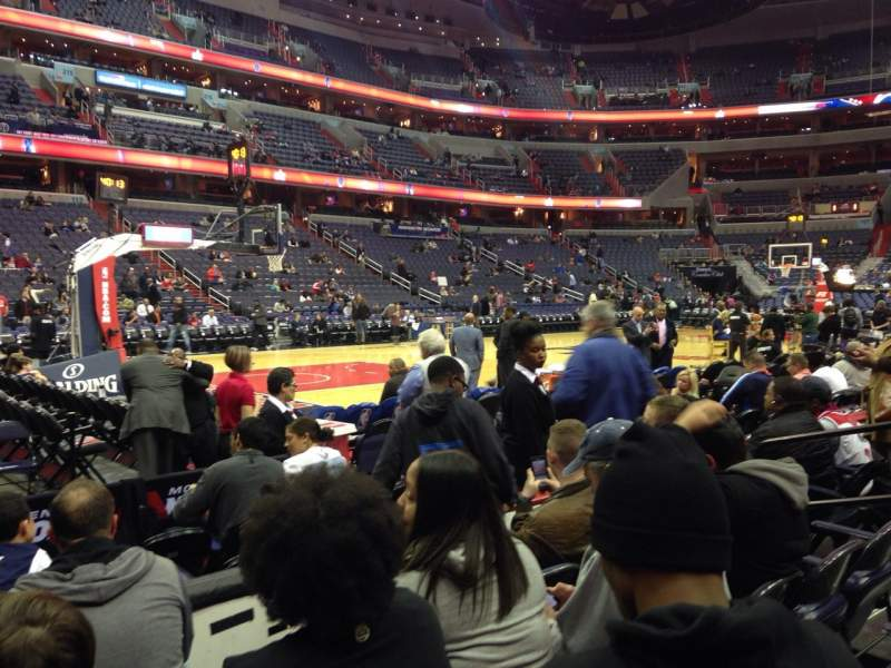 Seating view for Verizon Center Section 120 Row D Seat 6