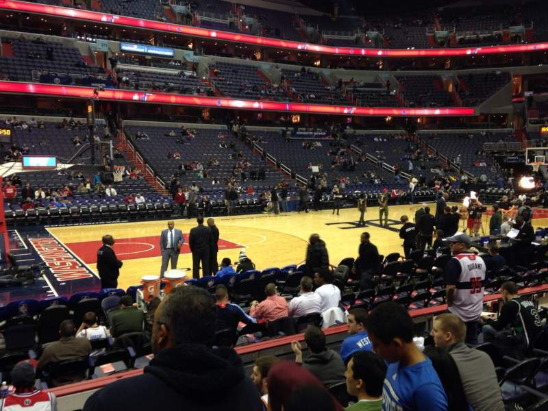 Seating view for Verizon Center Section 121 Row G Seat 1