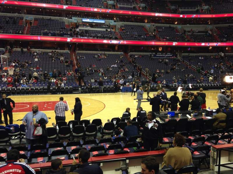 Seating view for Verizon Center Section 121 Row F Seat 16