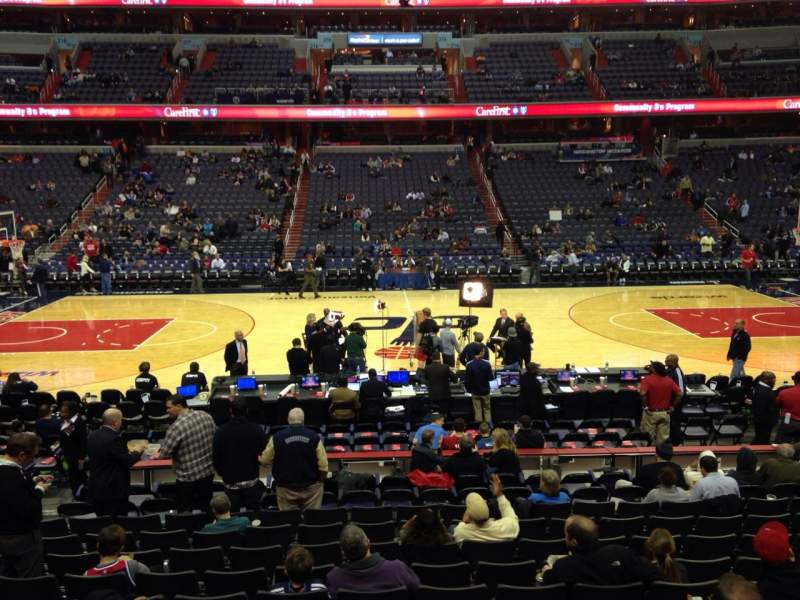 Seating view for Verizon Center Section 100 Row N Seat 8