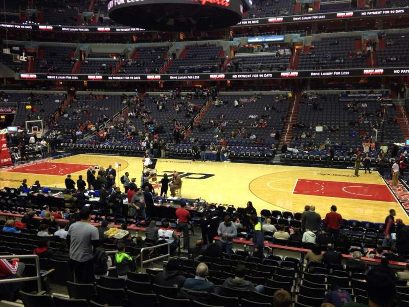 Seating view for Capital One Arena Section 101 Row P Seat 8