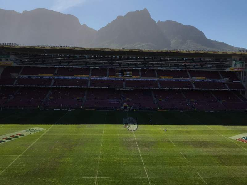 Seating view for Newlands Rugby Stadium Section Railway Stand Level 3 Block D Row II Seat 138