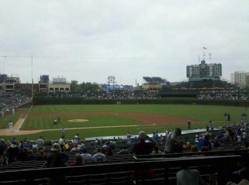 Seating view for Wrigley Field Section 222 Row 5 Seat 6