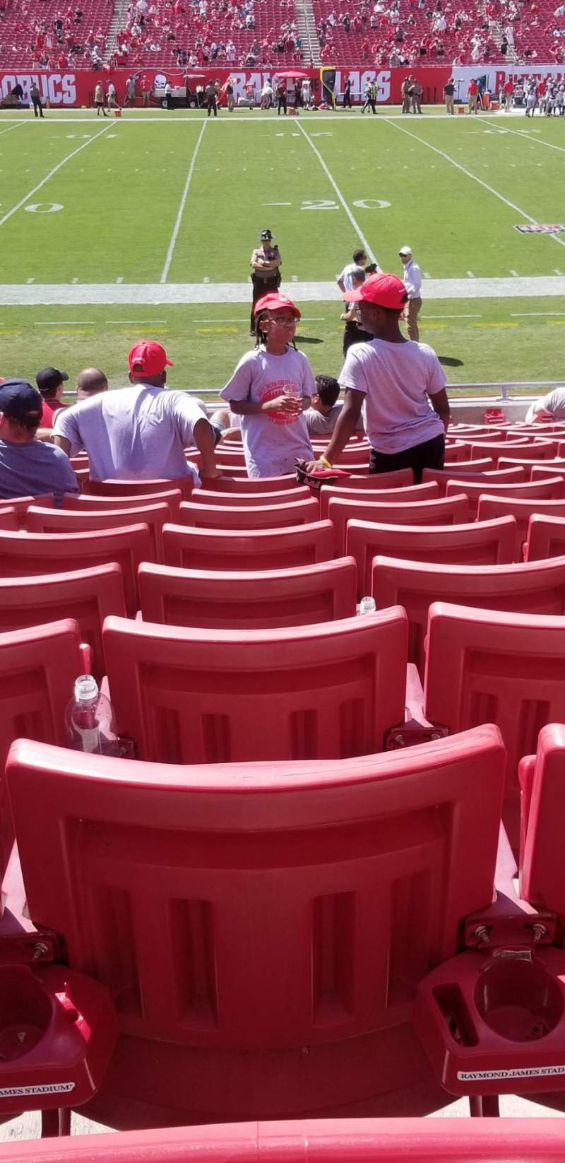 Seating view for Raymond James Stadium Section 133 Row S Seat 17