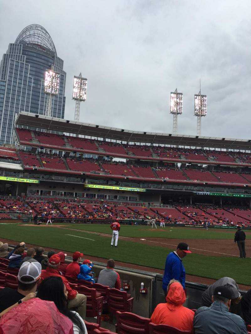 Seating view for Great American Ball Park Section 136 Row 6 Seat 7