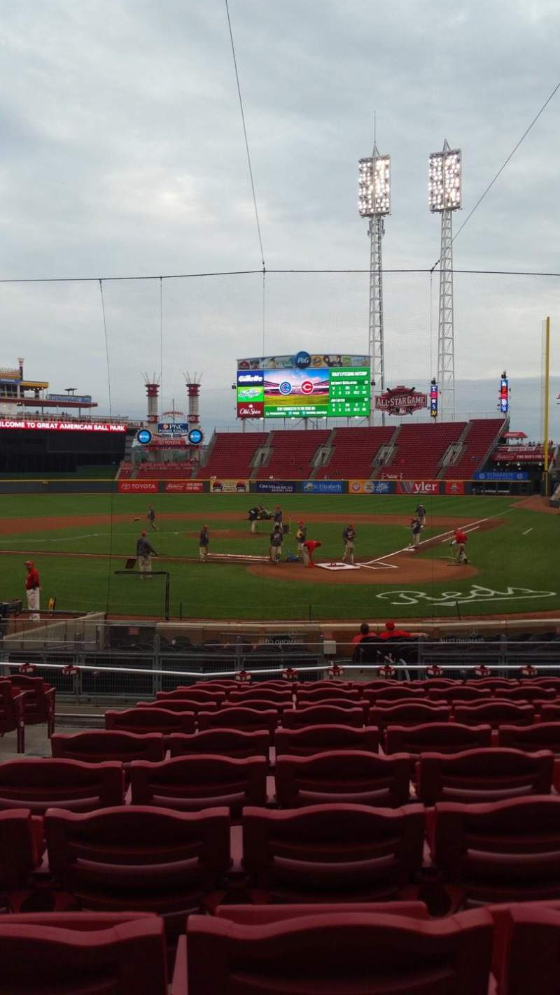 Seating view for Great American Ball Park Section 121 Row J Seat 3