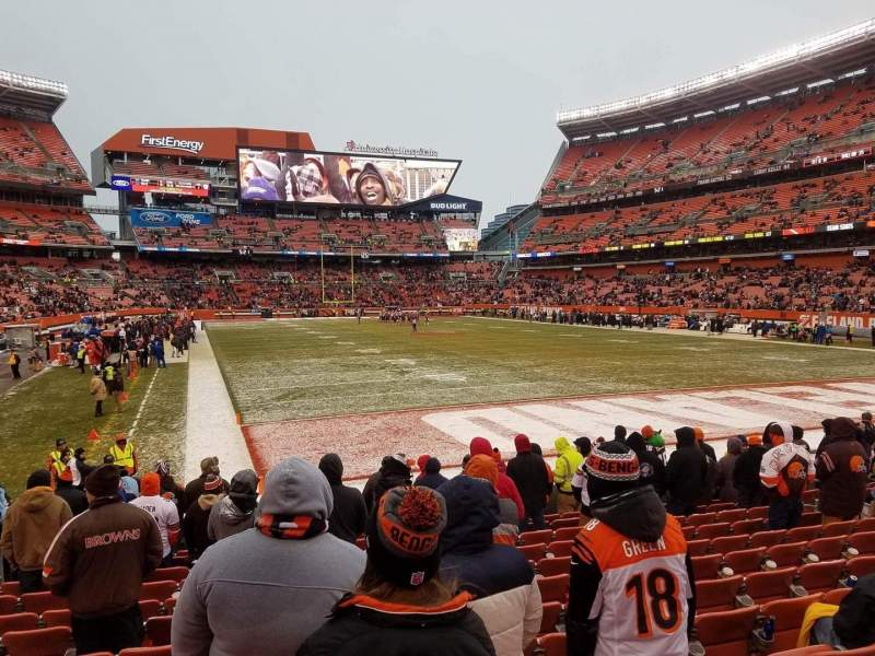 Seating view for FirstEnergy Stadium Section 145 Row 11 Seat 7