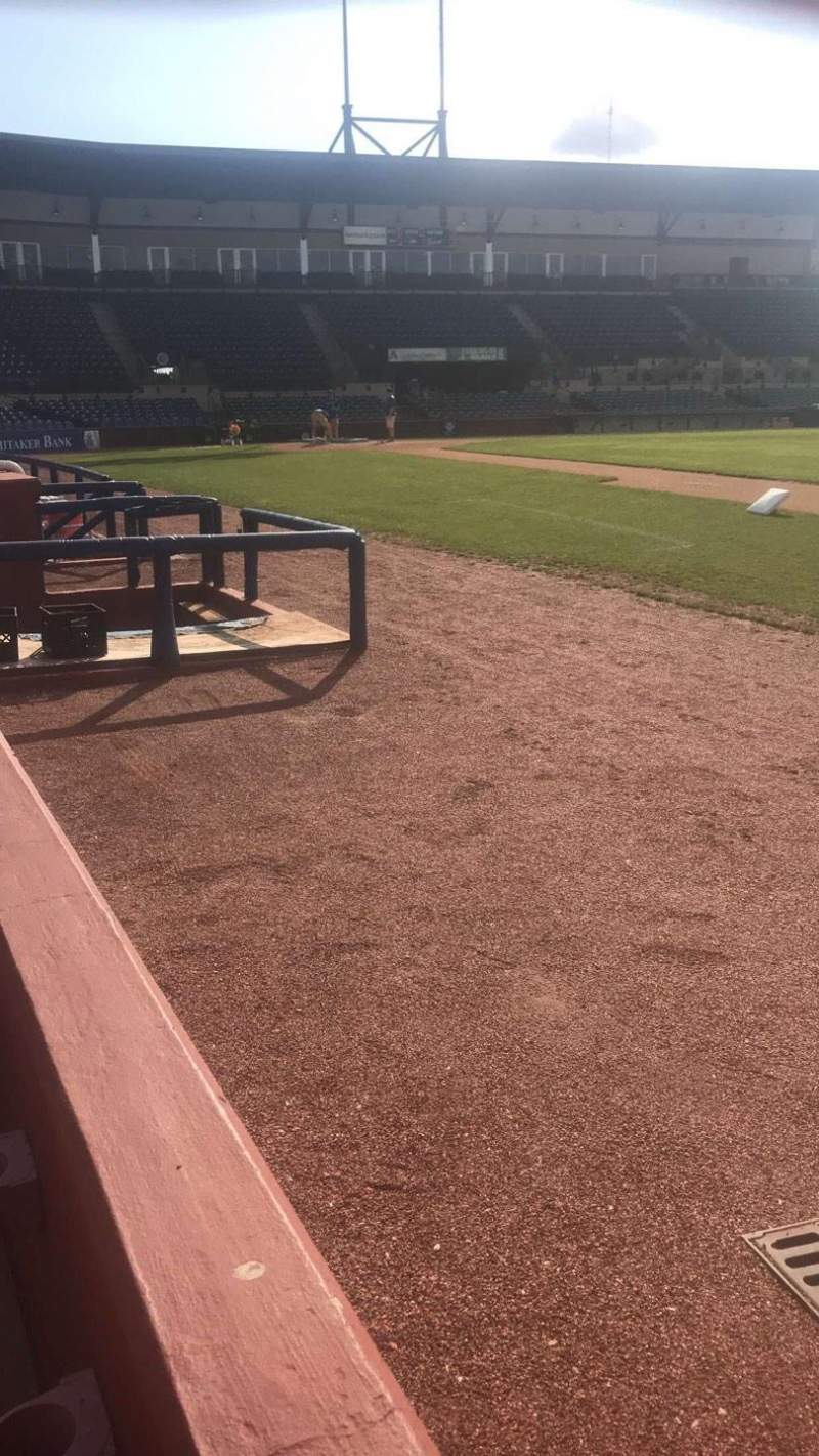 Seating view for Whitaker Bank Ballpark Section 101 Row 1 Seat 8