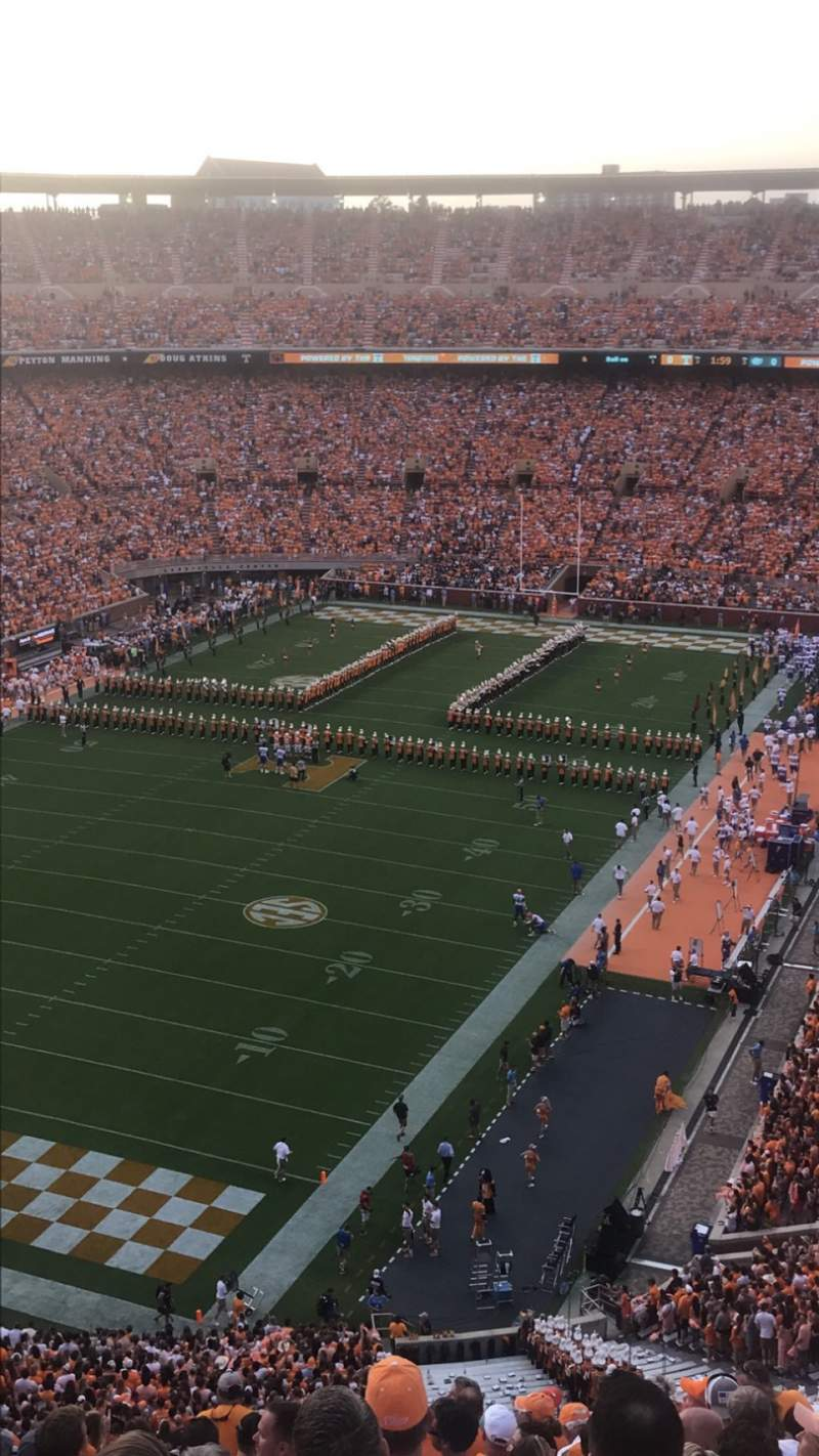 Seating view for Neyland Stadium Section II Row 16 Seat 9