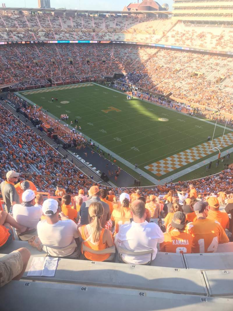 Seating view for Neyland Stadium Section PP Row 27 Seat 29
