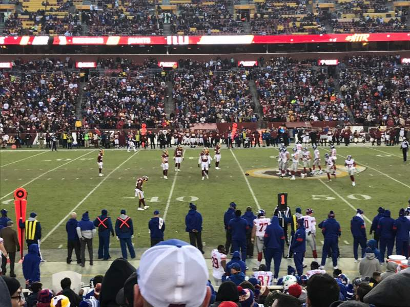Seating view for FedEx Field Section 122 Row 17 Seat 13