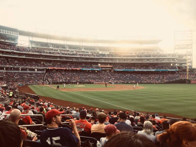 Seating view for Nationals Park Section 136 Row K Seat 21
