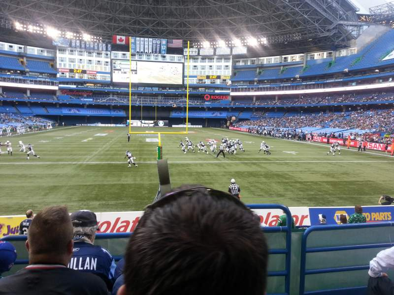 Seating view for Rogers Centre Section 121 Row 4 Seat 101