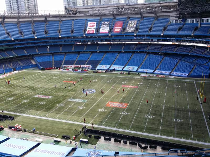 Seating view for Rogers Centre Section Toronto Marriott City Centre Row Stadium View