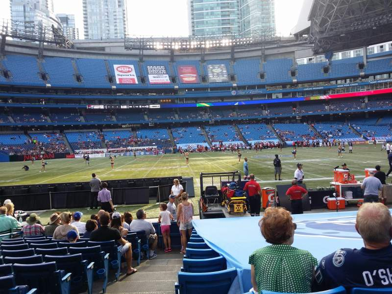 Seating view for Rogers Centre Section 112R Row 13 Seat 1