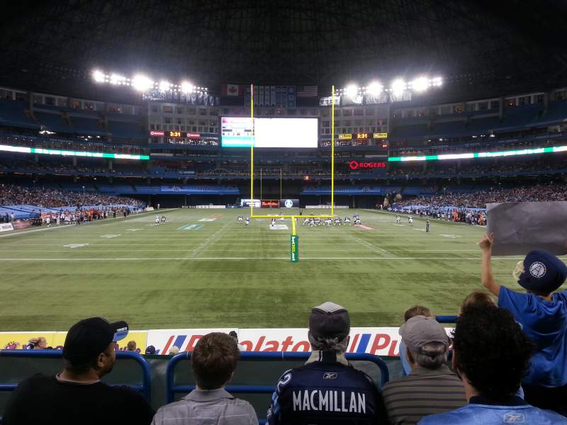 Seating view for Rogers Centre Section 121L Row 4 Seat 102