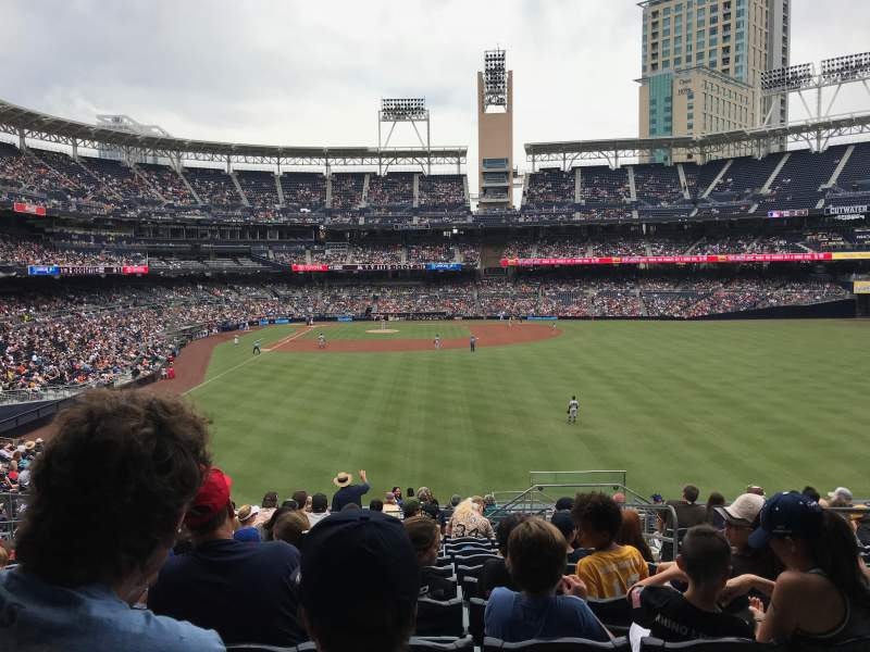 Seating view for Petco Park Section 131 Row 18 Seat 24